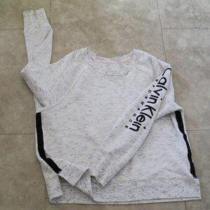 Calvin Klein Crew Neck Logo Fleece Sweatshirt